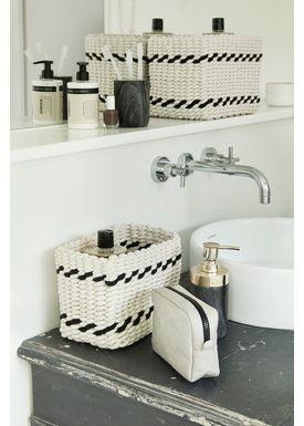 Hübsch - Soap Pump - Bathseries - Marble/Brass Set of 2