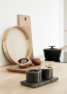 Hübsch - Salt - Salt & Pepper Marble Set - Black