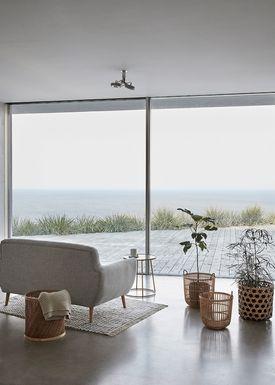 Hübsch - Sofa - 2 pers birch sofa - Light Gray