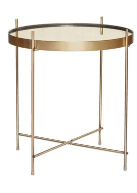 Hübsch - Sofabord - Round Mirror Top Table - Gold