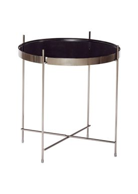 Hübsch - Sofabord - Round Mirror Top Table - Black