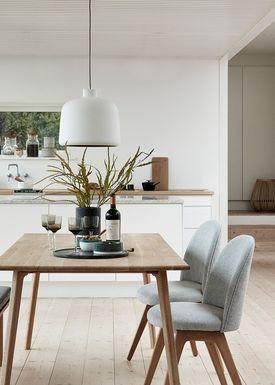 Hübsch - Chair - Chair w/ wooden legs - Small - Light Grey