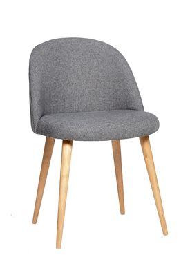 Hübsch - Stol - Chair w/ wooden legs - Large - Dark Grey