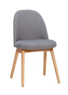 Hübsch - Chair - Chair w/ wooden legs - Small - Dark Grey