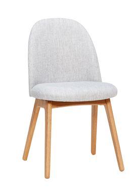Hübsch - Stol - Chair w/ wooden legs - Small - Light Grey