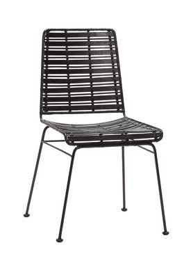Hübsch - Stol - Rattan Chair - Black