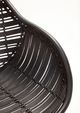 Hübsch - Stol - Rattan Chair w/arm rest - Black