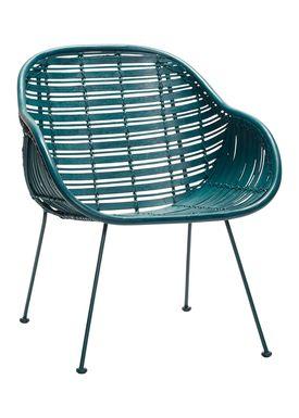 Hübsch - Stol - Rattan Chair w/arm rest - Green