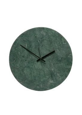 Hübsch - Watch - Marble Clock - Green/Black