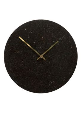 Hübsch - Watch - Marble Clock - Black/Gold