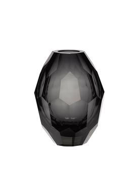 Hübsch - Vase - Hübsch Glas Vase - Grey/Clear