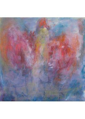 Iren Falentin - Painting - Bird Fønix - Blue/pink