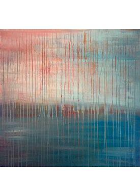 Iren Falentin - Painting - Blood rain - Blue/Red