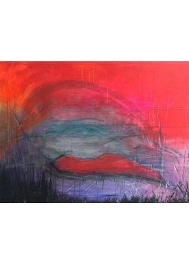 Iren Falentin - Painting - Bubble - Red