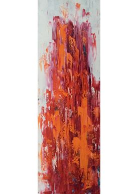 Iren Falentin - Painting - City orange - Orange