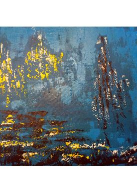 Iren Falentin - Painting - Cyan - Cyan