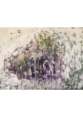 Iren Falentin - Painting - Elephant - Green/purple