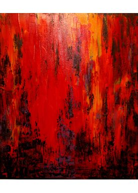 Iren Falentin - Painting - Fashion 1 - Orange