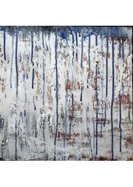 Iren Falentin - Painting - Ghost dance - Blue