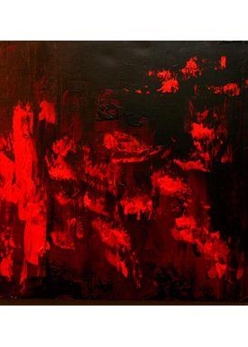 Iren Falentin - Painting - Lava 1 - Red
