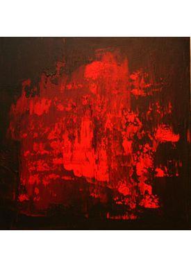 Iren Falentin - Painting - Lava 2 - Red