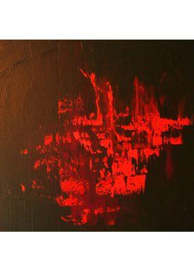 Iren Falentin - Painting - Lava 3 - Red