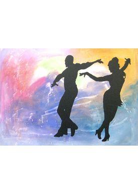 Iren Falentin - Painting - Loves dancing - Multi