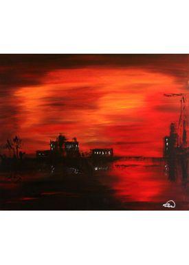 Iren Falentin - Painting - Major industry - Red