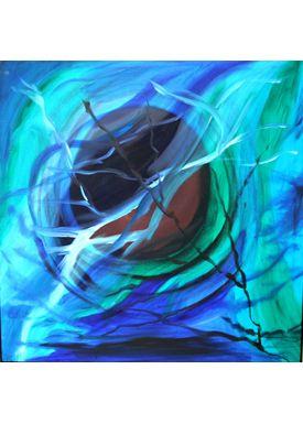 Iren Falentin - Painting - Moon light - blue/pink