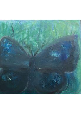 Iren Falentin - Painting - Moth - Blue