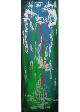 Iren Falentin - Painting - New Year's eve - Green and red