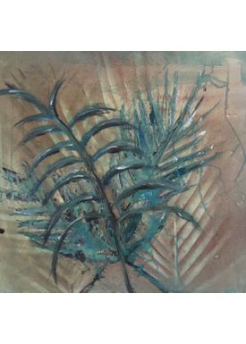 Iren Falentin - Painting - Palm trees - Green