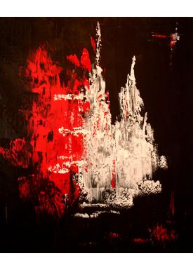 Iren Falentin - Painting - Red/white colors - Red/white/black