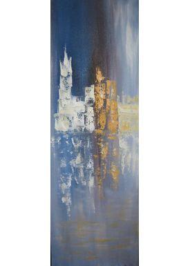 Iren Falentin - Painting - Reflection - Blue