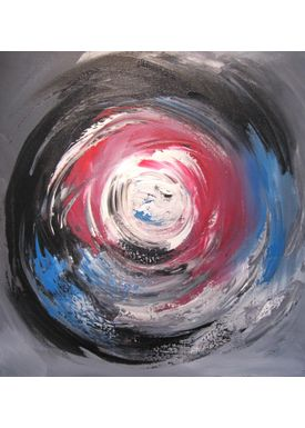 Iren Falentin - Painting - Sky or sea 1 - Red/blue
