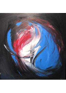 Iren Falentin - Painting - Sky or sea 2 - Blue/red