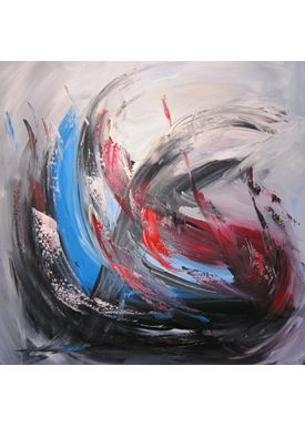 Iren Falentin - Painting - Sky or sea 4 - Blue/red