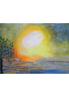 Iren Falentin - Painting - Sun over the country - Multi