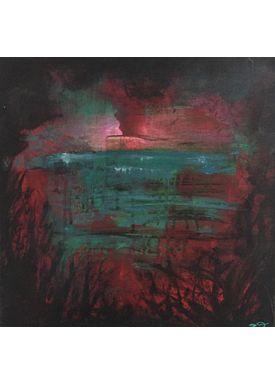 Iren Falentin - Painting - Sunrice Fuerteventura - Blue/red