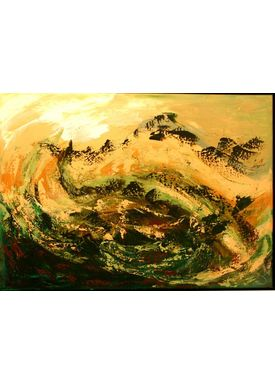 Iren Falentin - Painting - Swirl - Green