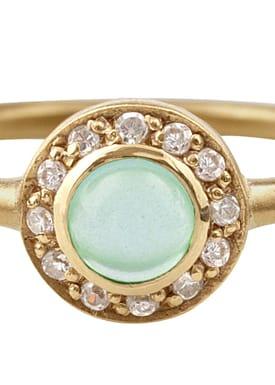 Liberty Ring Guld/Grøn