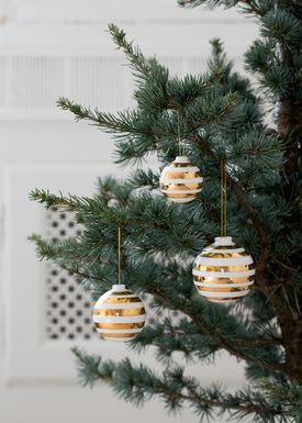 Kähler - Julepynt - Omaggio Julekugler 3-pak - Guld