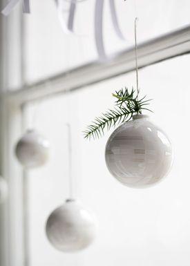 Kähler - Christmas Ornaments - Omaggio Julekugler 3-pak - Pearl