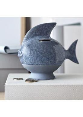 Kähler - Krea - Sparedyr Fisk - Lyseblå