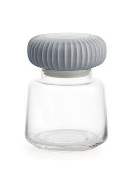 Kähler - Krukke - Hammershøi Opbevaringsglas - Marmorgrå - Lille