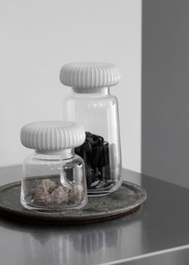 Kähler - Krukke - Hammershøi Opbevaringsglas - Hvid - Stor