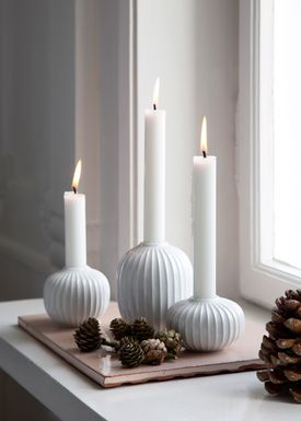 Kähler - Candlestick - Hammershøi Lysestage - White / 100