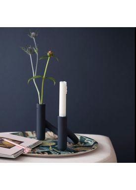 Kähler - Candlestick - Nellemann Vase/lysestage - Blue