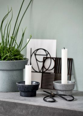 Kähler - Candlestick - Ombria Candle Holder - Slate Grey