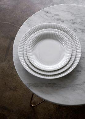 Kähler - Plate - Hammershøi Plate - White - Medium